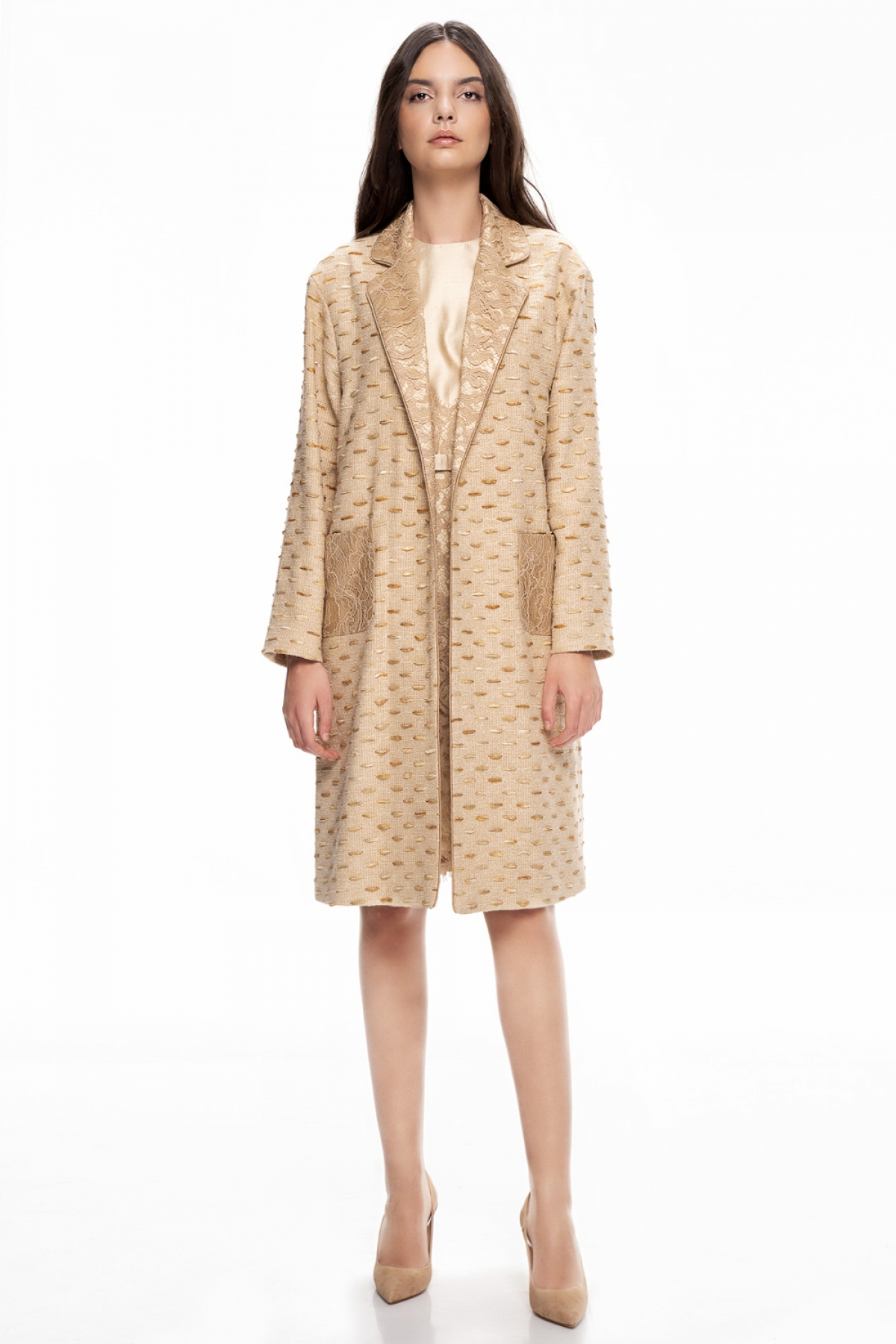 Lace robe coat