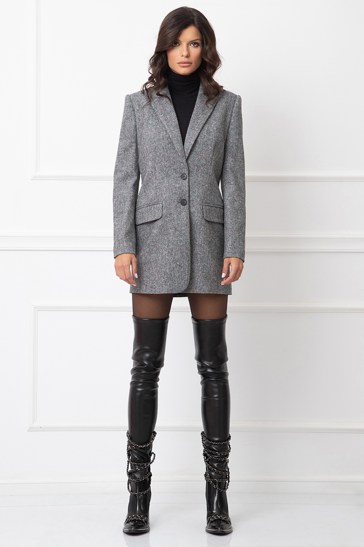Fitted tweed blazer