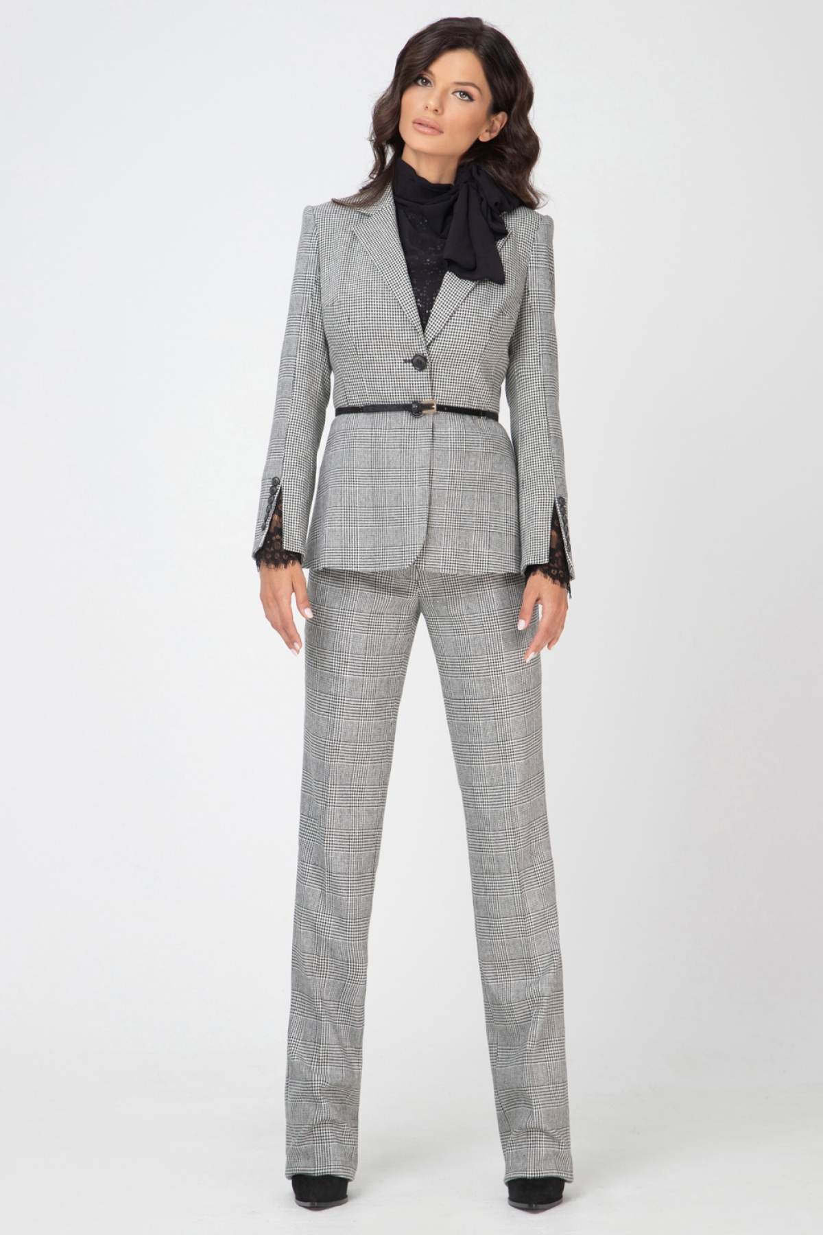 houndstooth-check single-breasted blazer